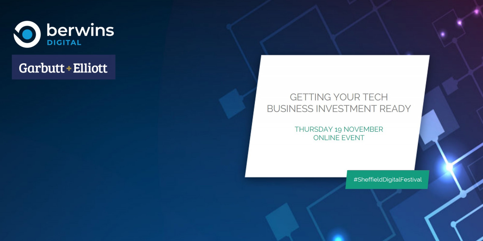 Getting your tech business investment ready - Berwins Digital header image