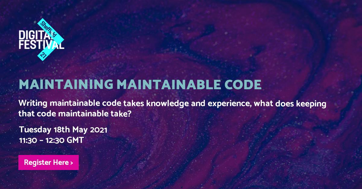 Maintaining Maintainable Code - BJSS header image