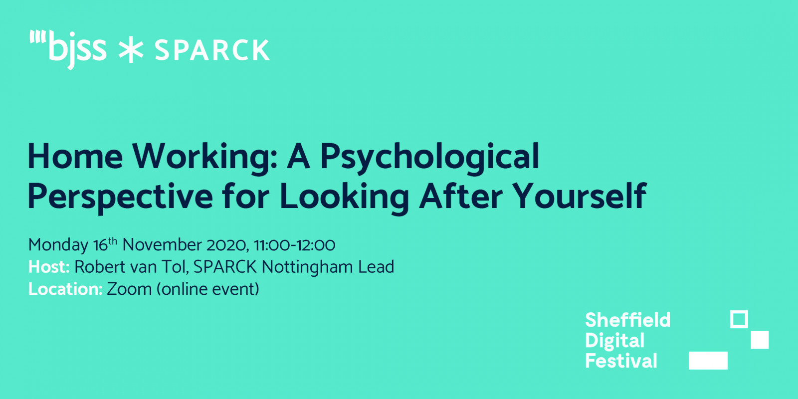 Home Working: A Psychological perspective for looking after yourself - SPARCK header image