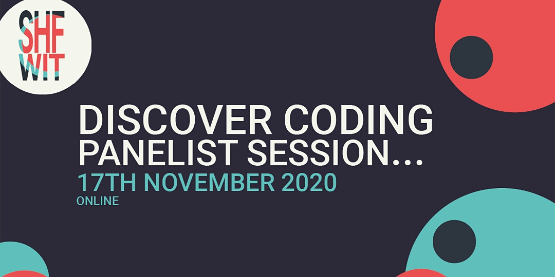 Discover Coding - Panelist Session - Sheffield Women in Tech  header image