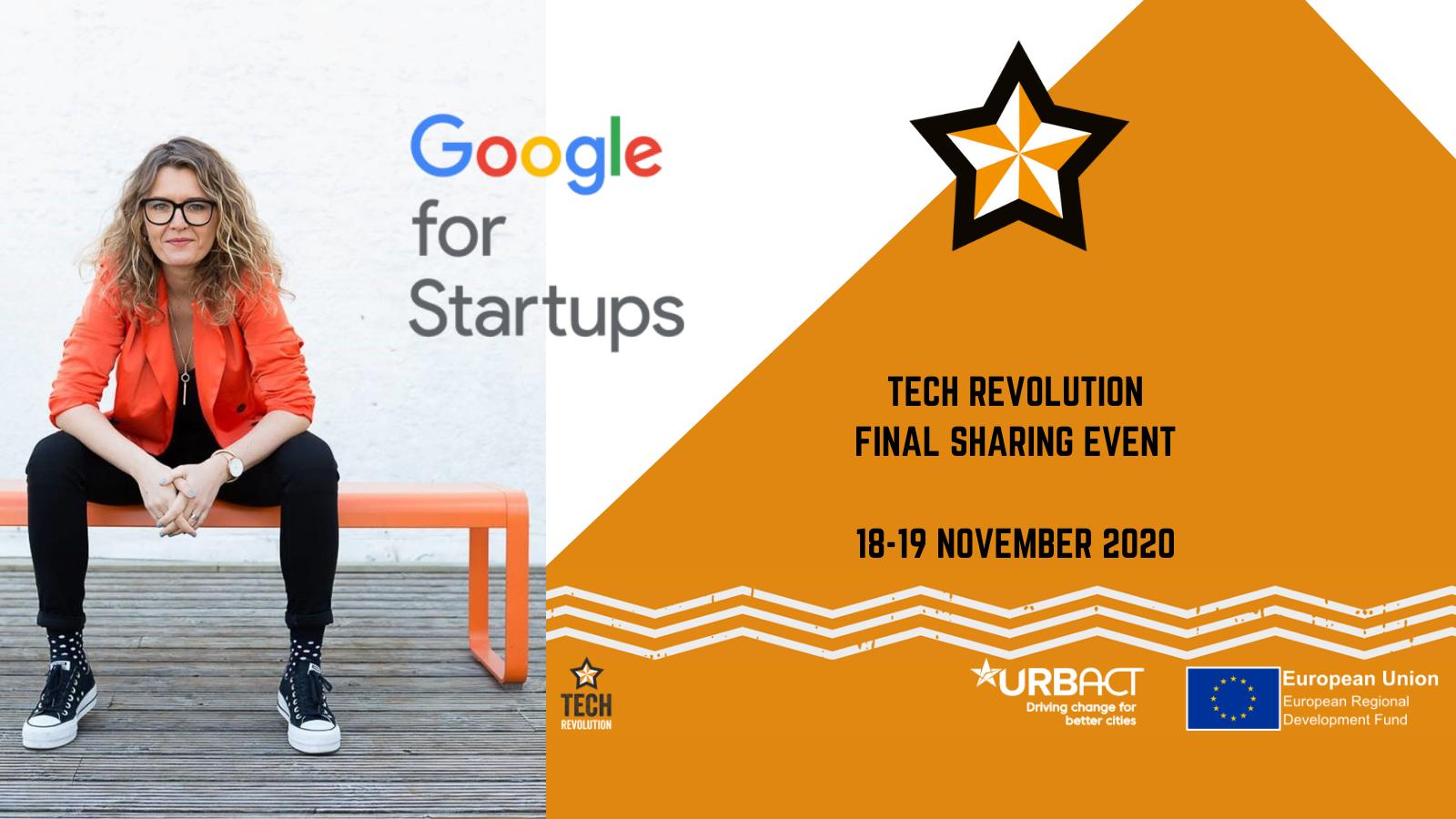 Tech Revolution Final Sharing Event - With Keynote from Head of UK Startups Marta Krupinska - DMC header image