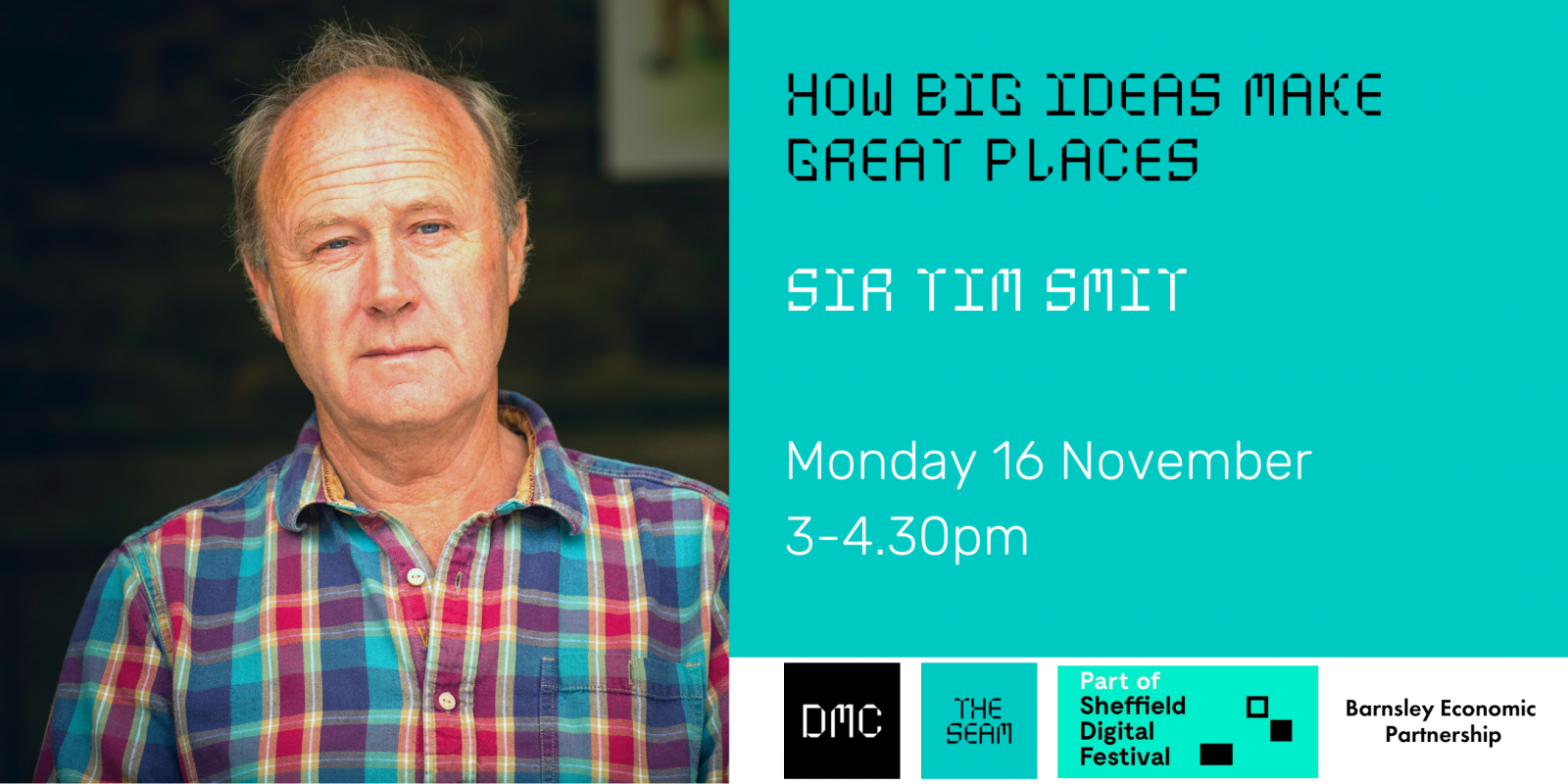 Sir Tim Smit - How big ideas make great places - The SEAM  header image
